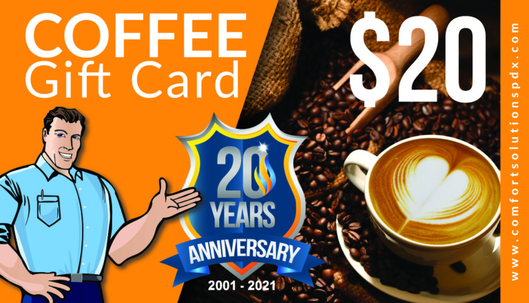 Coffee Gift Card - Comfort Solutions